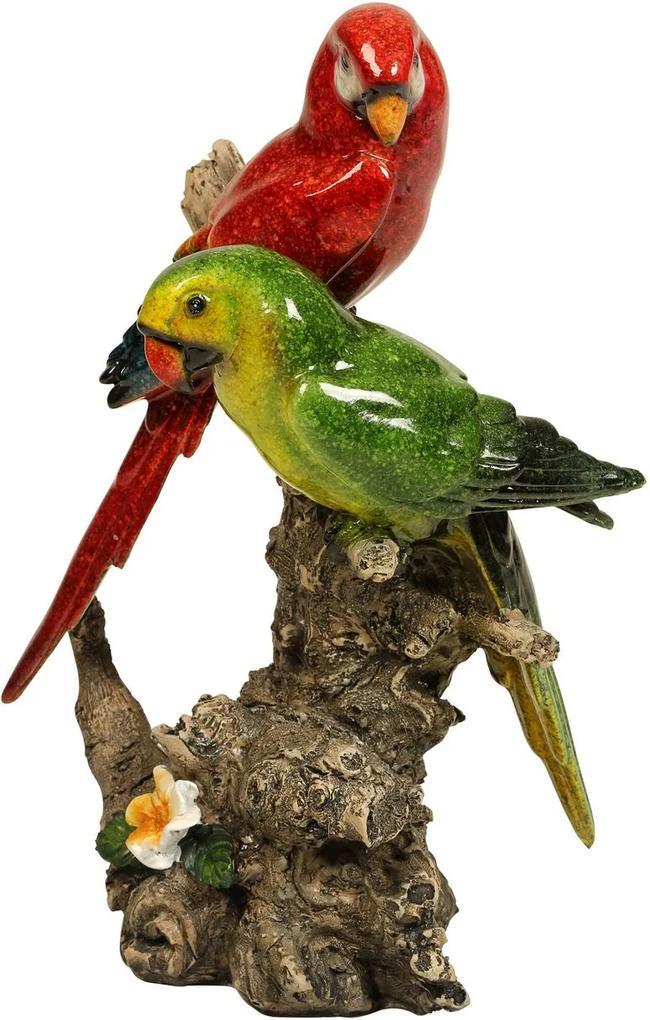 Escultura Decorativa de Resina Pássaro Nature