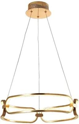 Pendente Led Metal French Gold Lumia