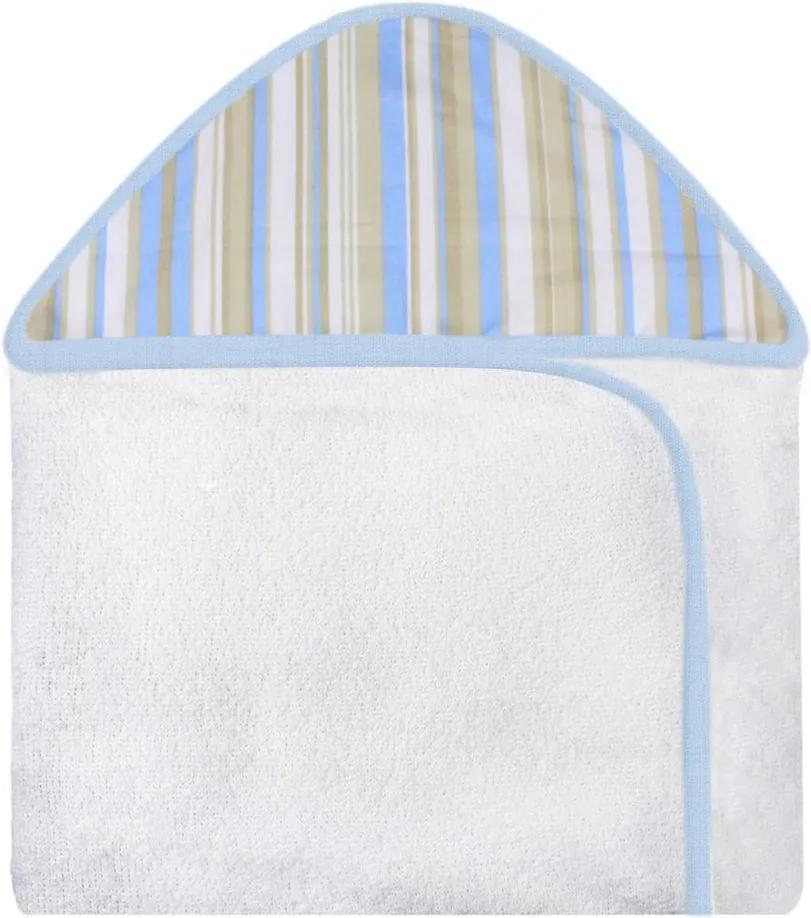 Toalha de Banho Avião Listras Azul com Capuz