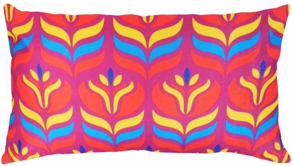 Capa De Almofada Suede Estampa Tribal Pink 60X30