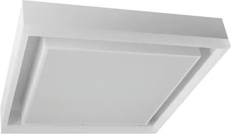 Plafon Led Sobrepor Metal Branco 110W Luz Amarela 3000K