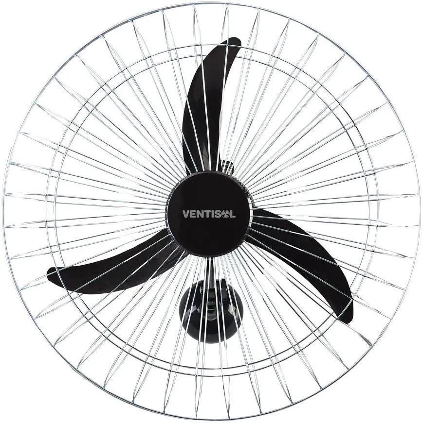 Ventilador de Parede 60cm New Pr Gr Crom 127v 465 Preto - Ventisol