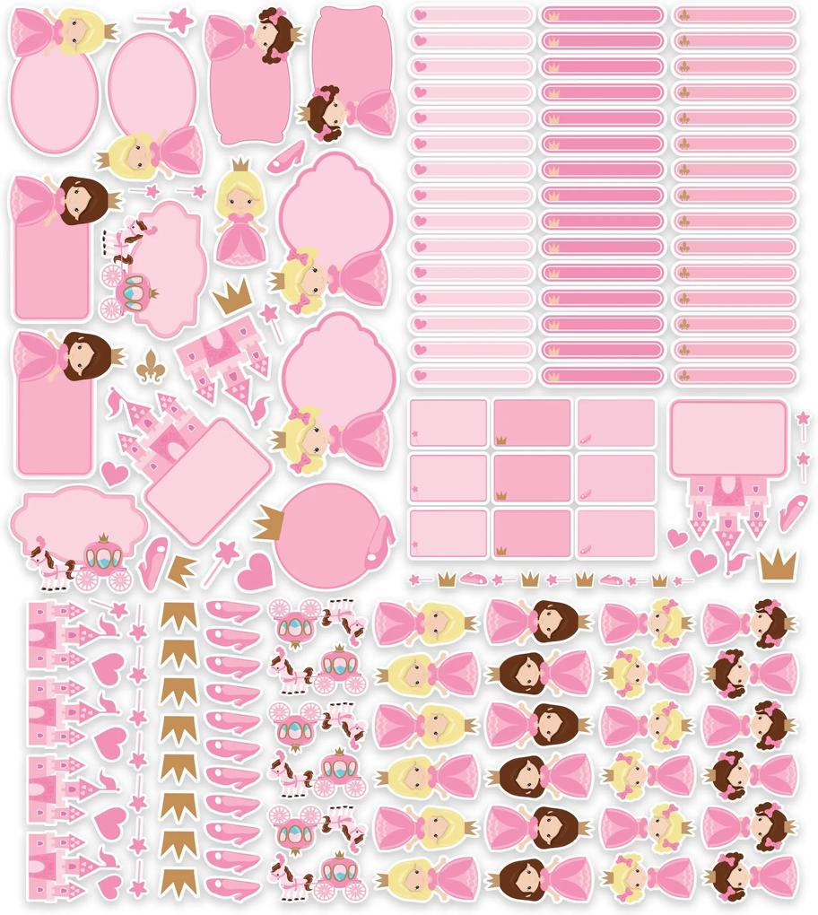 Etiquetas Escolares Princesa Personalizadas 173un