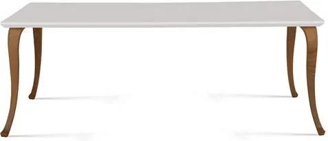 Mesa de Jantar Paterson em Madeira Maciça 160cm - Branco