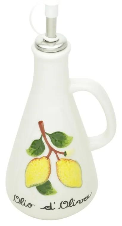 Garrafa Para Tempero Cerâmica Com Bico Dosador Lemons 310ml 26734 Bon Gourmet