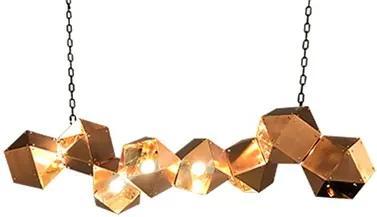 Pendente Cristal Metal Cobre Fiati
