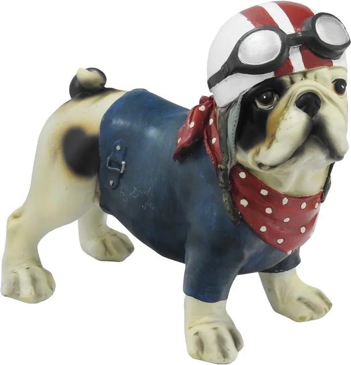 Escultura Em Resina Bulldog Flake