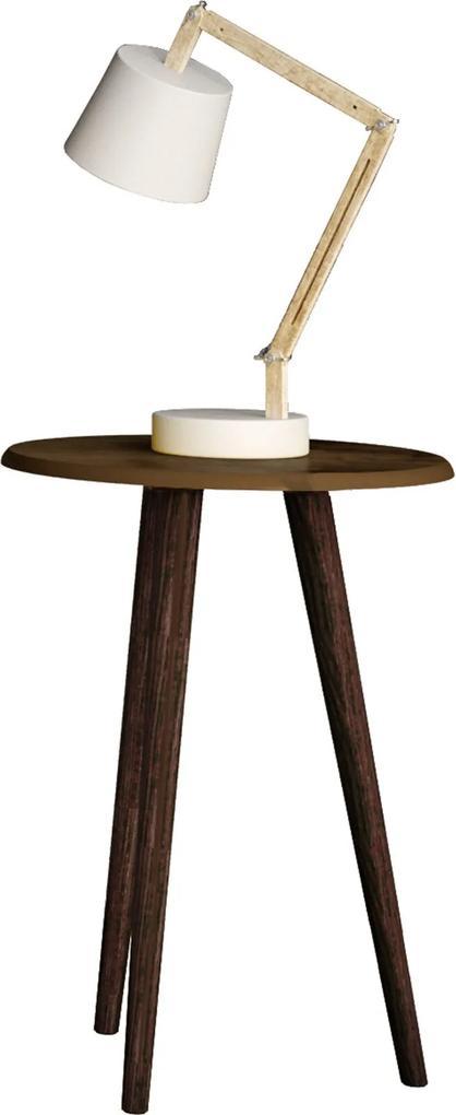 Mesa de Apoio Brilhante Madeira Rústica Móveis Bechara Marrom