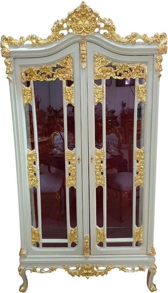 Cristaleira Branca com 2 Portas - 45x210x110cm