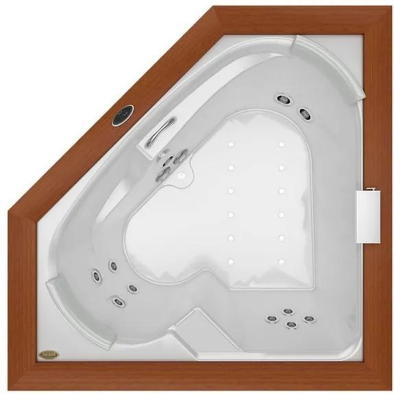 Banheira de Hidromassagem - FLEXA WOOD - Acrílica - 11 Jatos - 165x165x57,5cm - Jacuzzi - Jacuzzi
