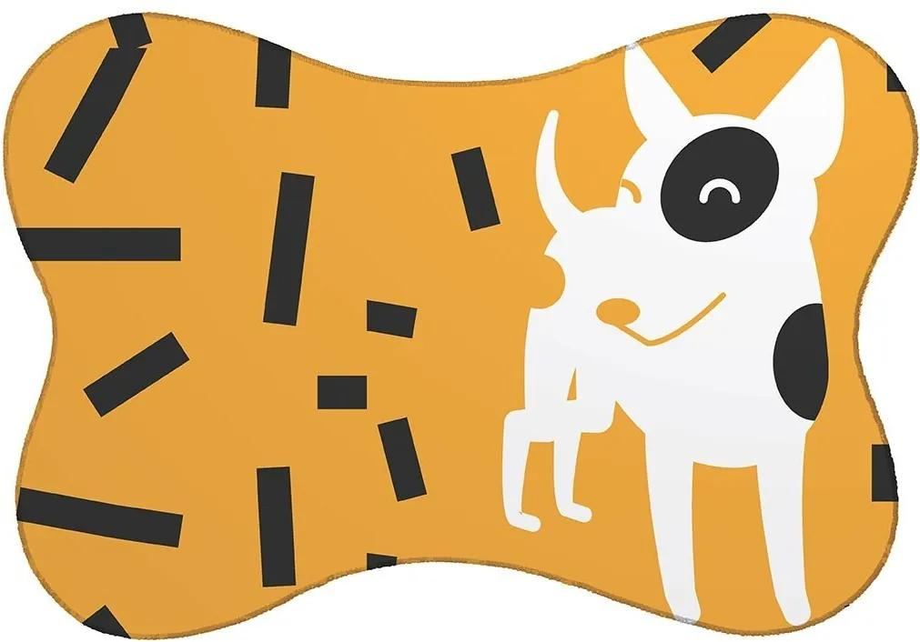 Tapete PET Mdecore Cachorro Amarelo46x33cm