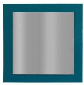 Espelho Mdf 60X60cm Lapidado Ferrara Turquesa 119L Epaglass