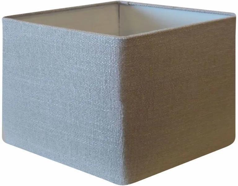 Cúpula em Tecido Quadrada Abajur Luminária Cp-4270 30/35x35cm Rustico Cinza