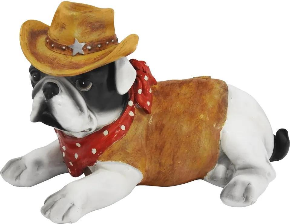 Escultura Em Resina Bulldog Cherife