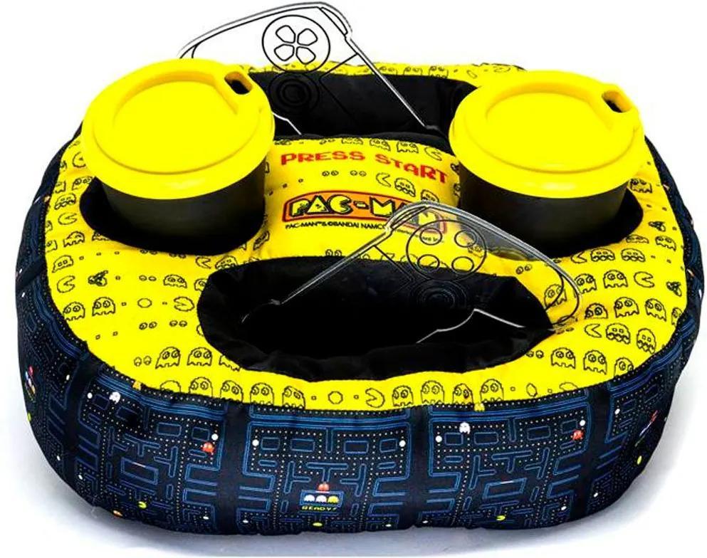 Almofada Porta Controle e Copo Pac Man
