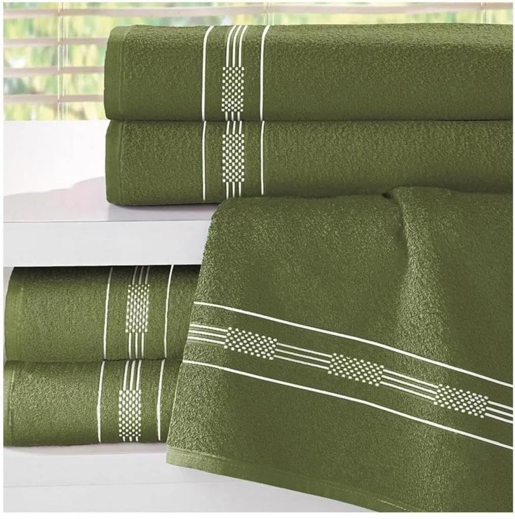 Toalha de Rosto Teka Dry Verde Musgo 240g/m²