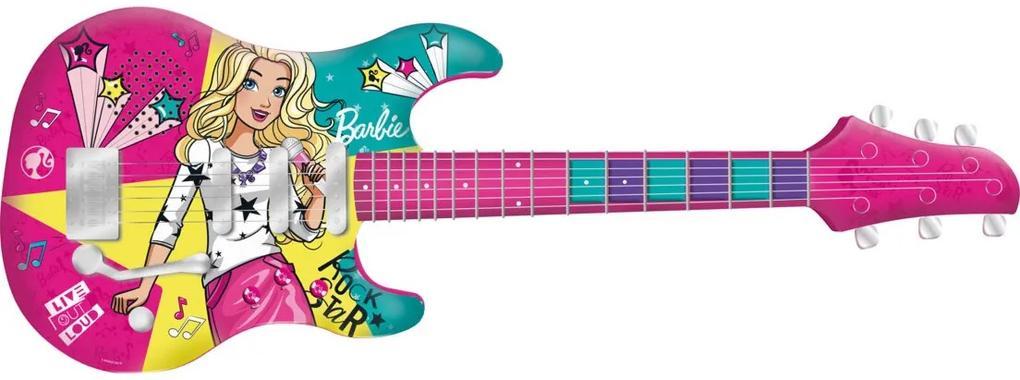 Guitarra Barbie Infantil com Função MP3 Fun Divirta-se