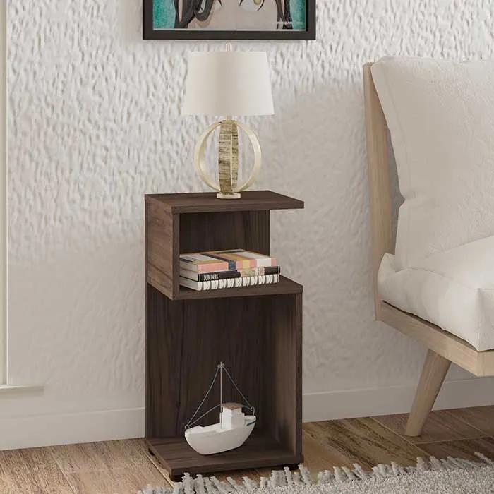Mesa de Canto Compacta Alsdorf 30cm Amêndoa