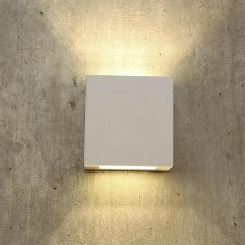 Arandela Alumínio Branco Led 12W 2700K Ip44 New Clean
