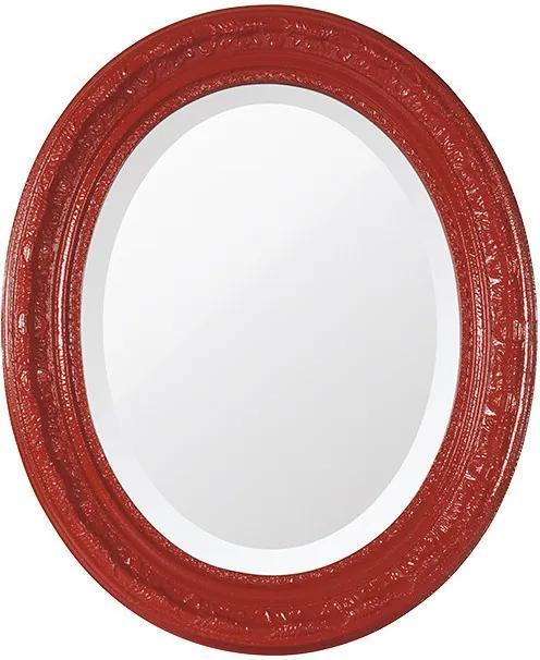 Espelho Oval Bisotê Vermelho Luxo Médio
