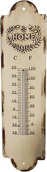 Termômetro em Metal Branco Home