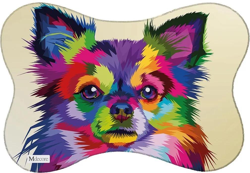 Tapete PET Mdecore Spitz Alemão Colorido46x33cm