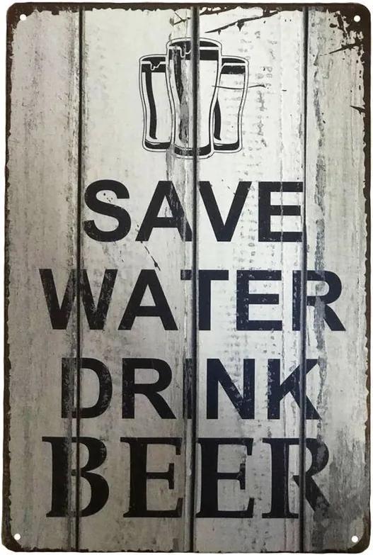 PLACA DECORATIVA SAVE WATER