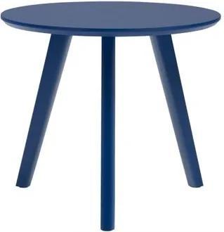 Mesa Lateral Paint Baixa Azul Acetinado 45 cm (ALT) - 50976 Sun House
