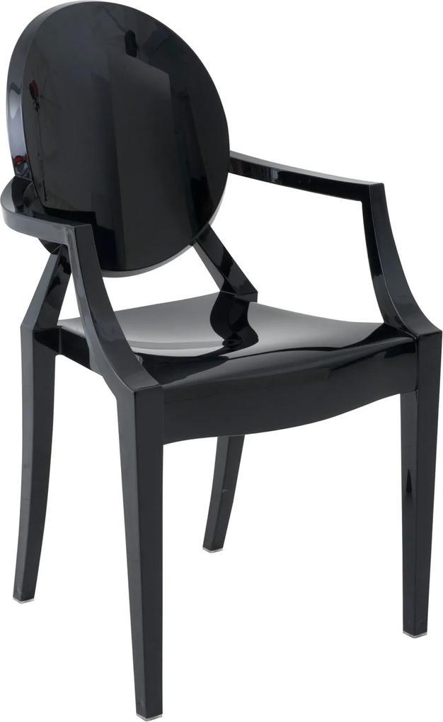 Cadeira Sofia Com Braço Preto Rivatti Móveis