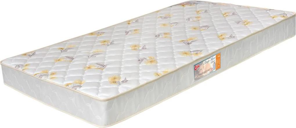 Colchão Solteiro 78X188X25 Espuma Sleep Max D28 Floral Amarelo Castor