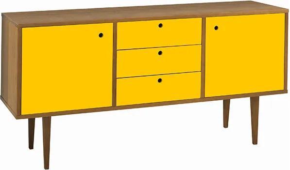Buffet com Gavetas Vintage Amarelo