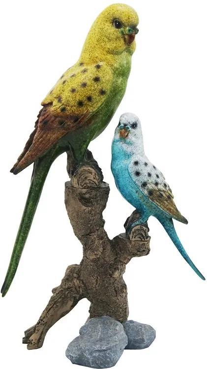 Escultura De Pássaro Em Resina Shadow