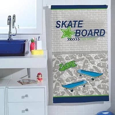 Toalha de Banho Infantil Felpuda Skate - 300g/m²