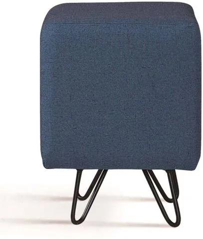 Puff Cube Azul Base Estrela Preta - 49871 Sun House