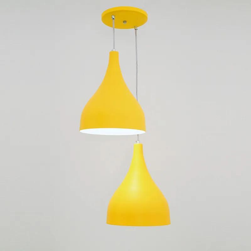 Pendente Ibiza Médio para 2 Lâmpadas Amarelo