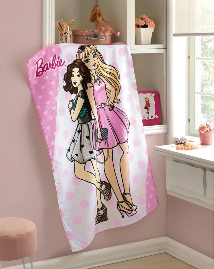 Toalha Banho Dohler Felpudo - Barbie 10