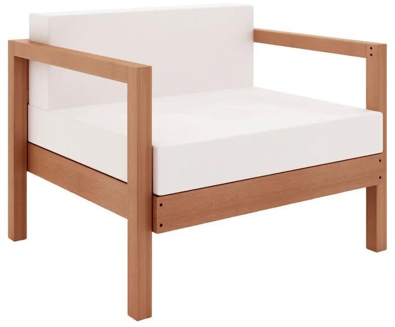 Sofá Componível Lazy 1 Lugar com Almofada - Wood Prime MR 44001