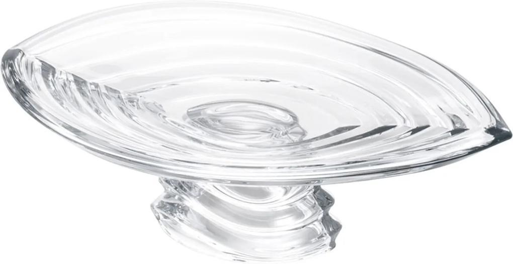 Prato Rojemac de Cristal Ecológico para Bolo com Pé Wave Incolor