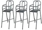Cadeira Infantil Para Refeição 3 Peças 000125 Preto Archeli