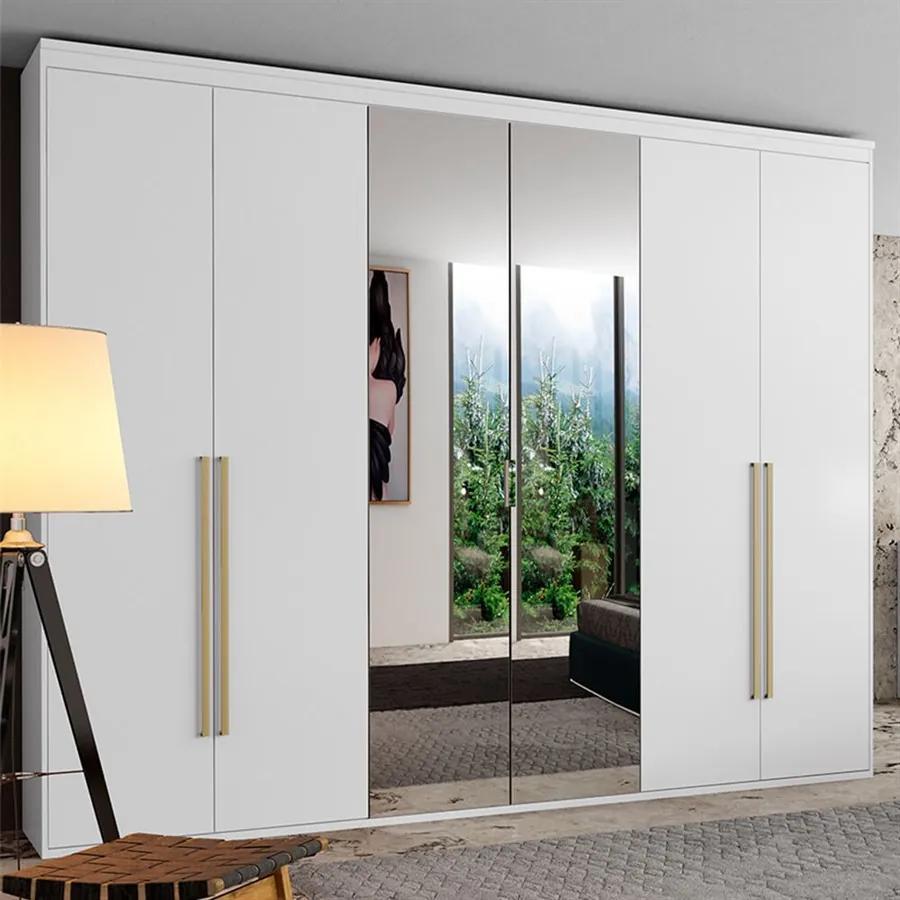 Guarda-Roupa Elisabeth (L: 227 cm) C/ 6 Portas Articuladas C/ 2