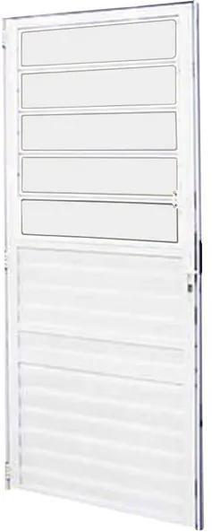 Porta de Abrir Basculante Branca Fortline 210x86cm Direita - 2668 - Atlantica - Atlantica