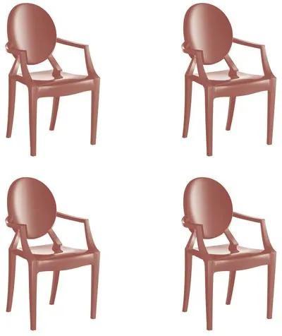 Kit 4 Cadeiras Wind Plus em Polipropileno Kappesberg - Terracota