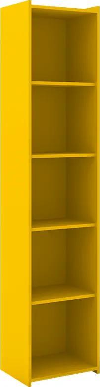 Estante Akemi C/ 5 Nichos Amarelo