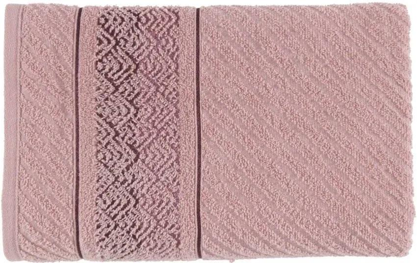 Toalha Karsten Softmax Colin - Cor: Branco/Rosa - Tamanho: Banho 70 X 135 cm - Karsten