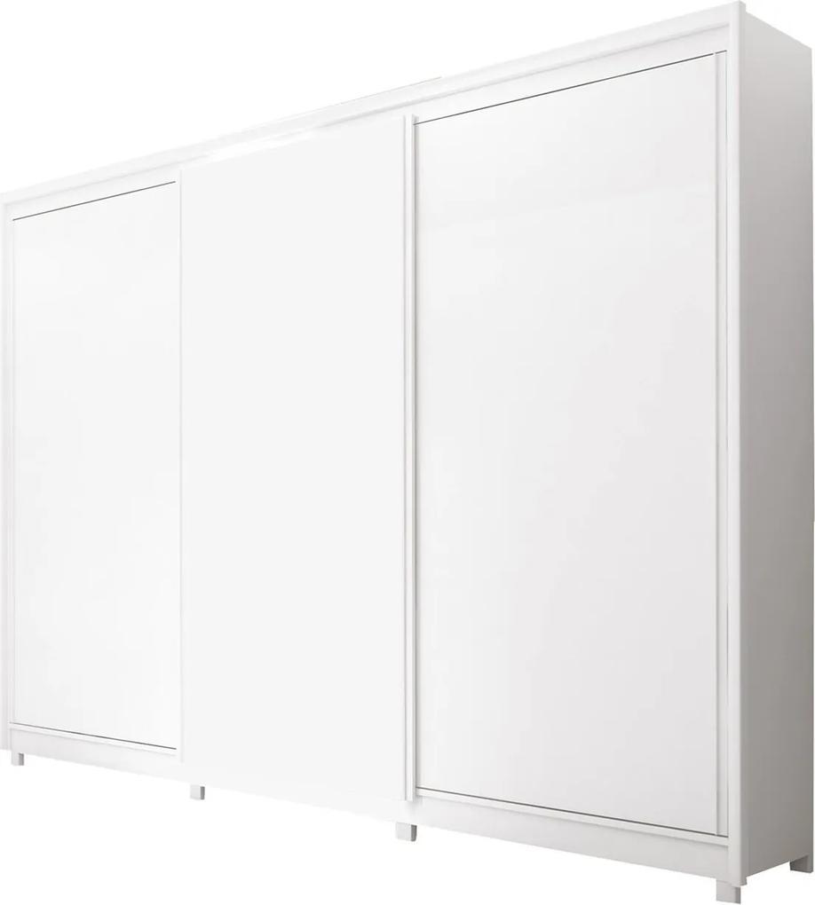 Guarda Roupa New Vêneto 3 Portas Deslizantes Branco Móveis Fazzio