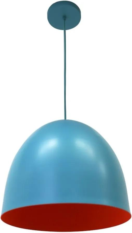 Pendente Aluminio Laranja Azul Tiffany