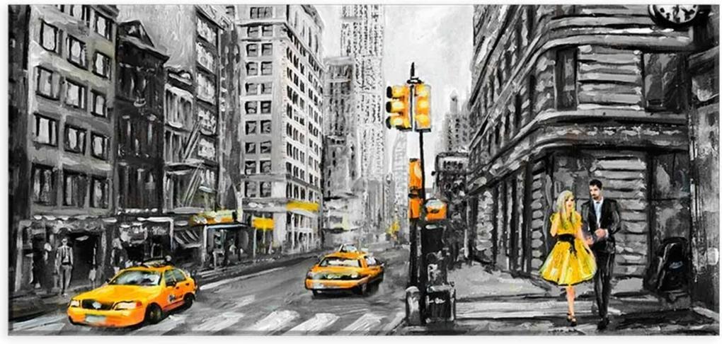 Tela Decorativa Slim New York Unico Love Decor