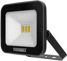 Refletor Led 10W Taschibra Slim Preto 3000K