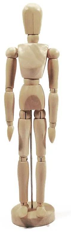 Boneco articulado de madeira