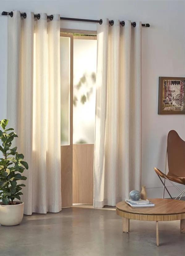 Cortina com Corta Luz Nude 180x280 cm